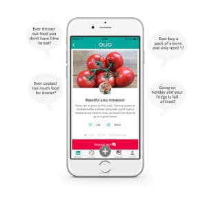 Olio is a food waste app that helps consumers get free food. This app is great for students as the food is free and available for all!
